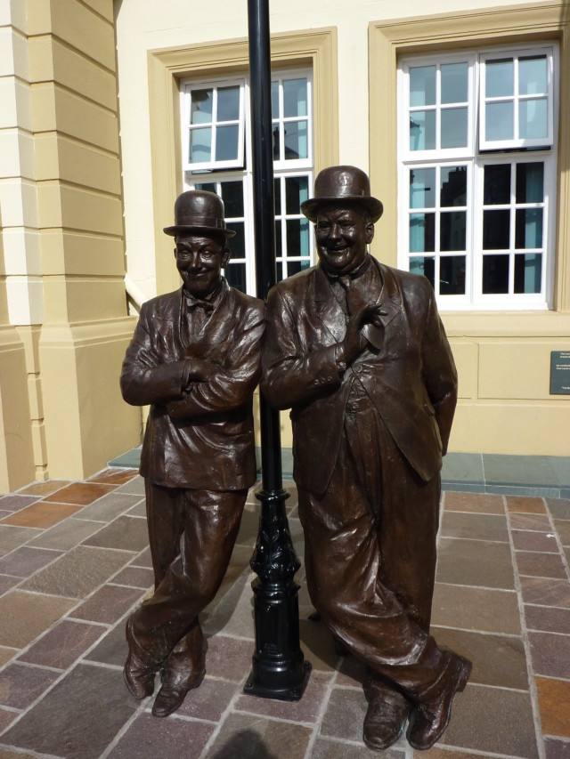 Statue of Laurel and Hardy in Ulverston