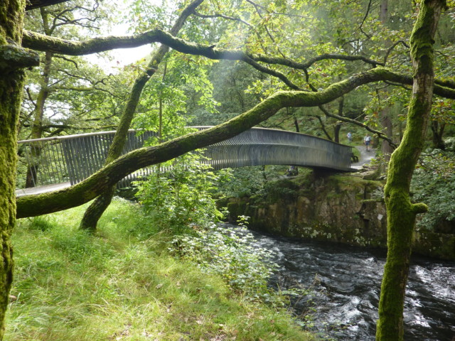 Metal bridge near Skelwith Force