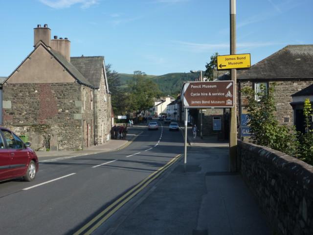 The road into Keswick