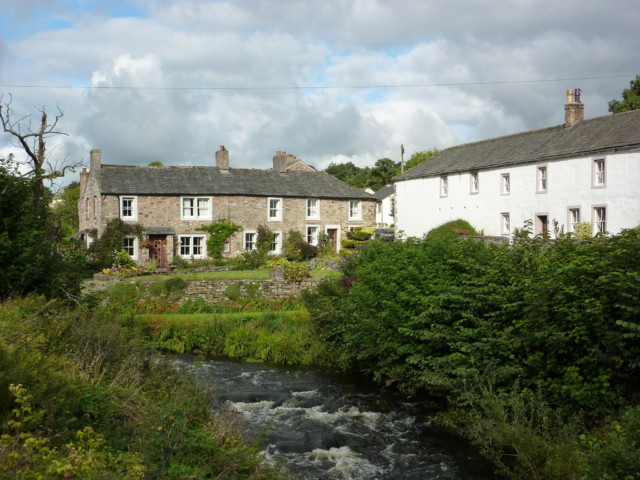 Houses near a stream in Caldbeck
