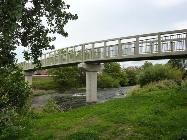 A bridge over the River Caldew near Carlisle