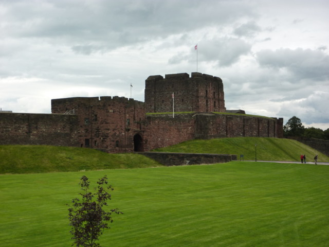 Carlisle Castle and moat