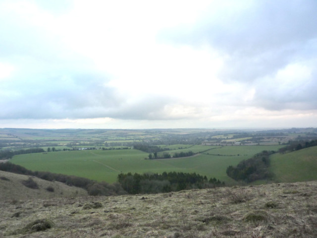 The view from Beacon Hill on the South Downs Way