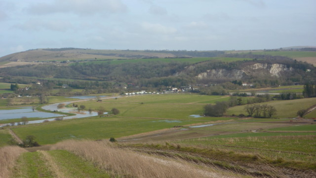 The villages of Houghton and Amberley in the distance