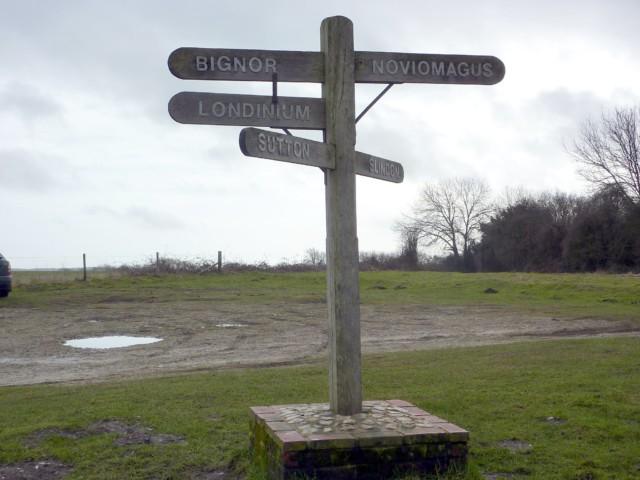 A fake Roman signpost