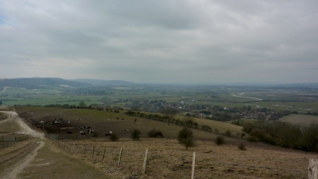 View from Amberley Mount on the South Downs Way