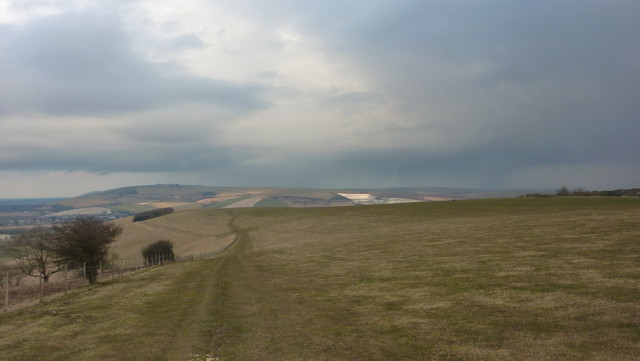 Annington Hill on the South Downs Way