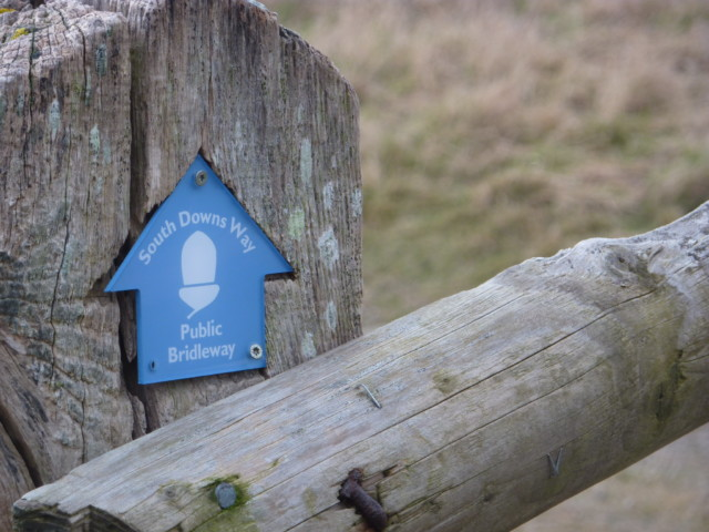 A South Downs Way bridleway sign