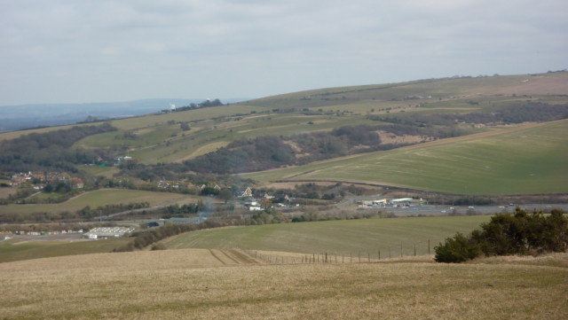 Looking towards Pyecombe on the South Downs Way