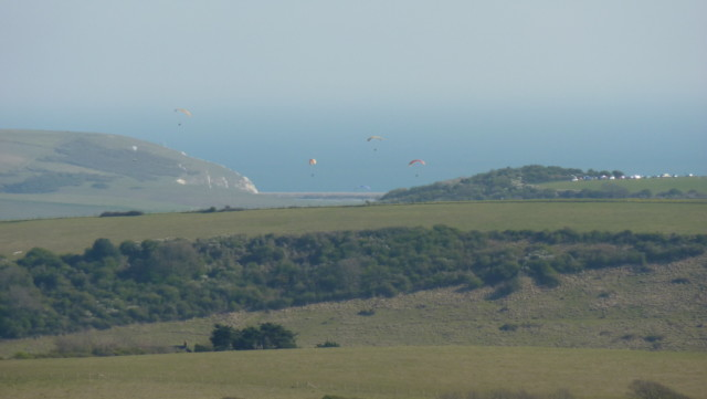 Cuckmere Haven in the distance
