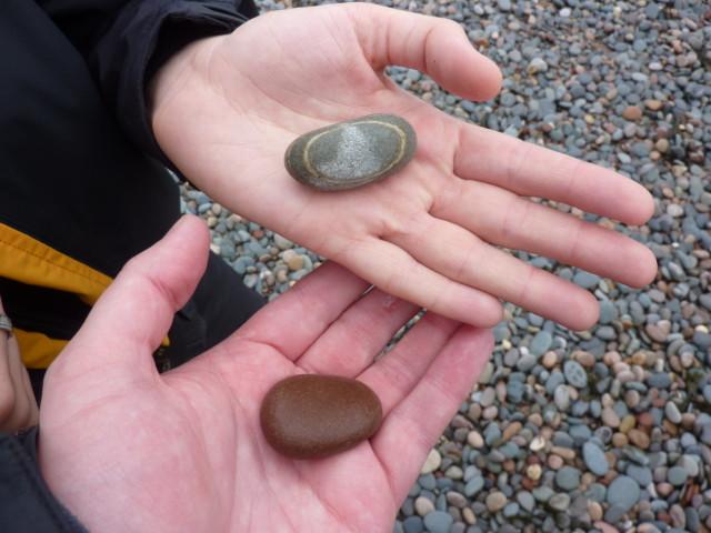 Pebbles in hands