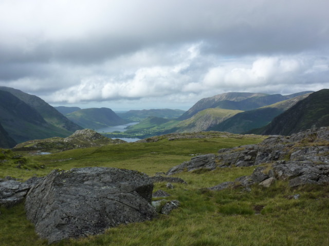 The view of Buttermere from Honister on the Coast to Coast