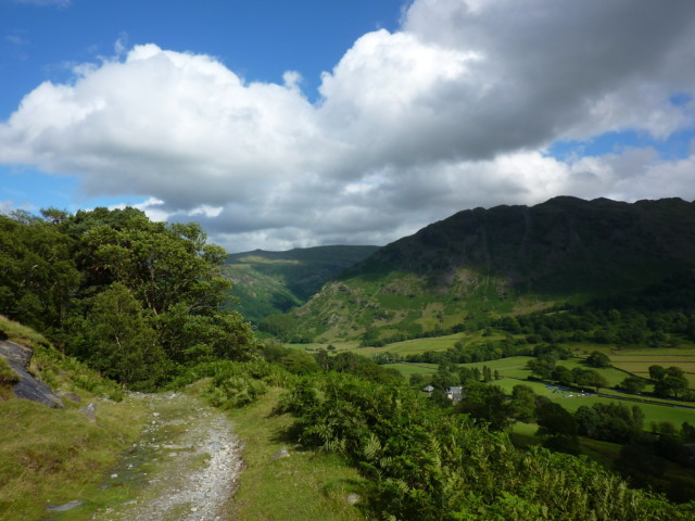 The path from Honister to Seatoller