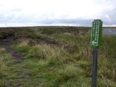 Public footpath sign on the Coast to Coast