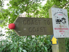 Warning. This is a Coast to Coast sign with a red nose on it