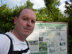 Me at the start of the Dales Way in Ilkley