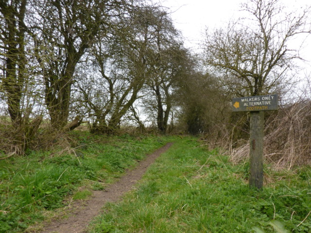 A signpost offering a Walkers Only alternative route