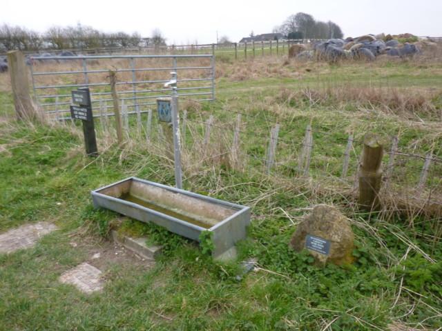 A water tap on the Ridgeway dedicated in the memory of Peter Wren