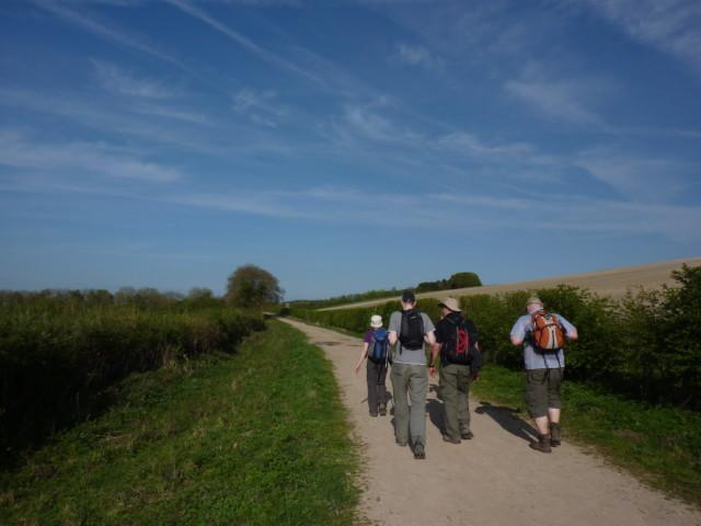 Walkers on a path near Watlington