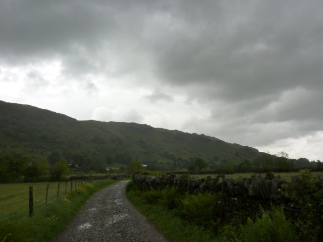 Chapel Stile in Langdale in the cloud