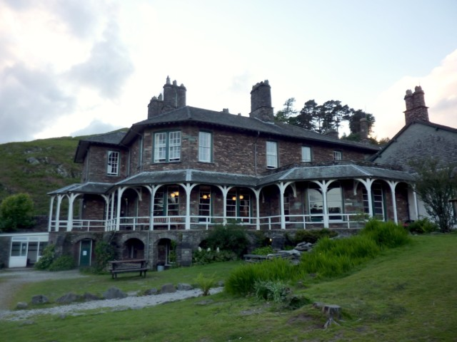 The exterior of YHA Langdale