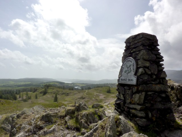Trig point on the top of Black Fell