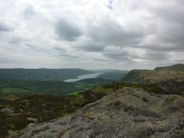 Coniston Water seen from the summit of Holme Fell