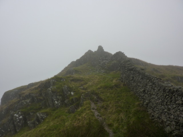 A cloudy summit of Low Pike