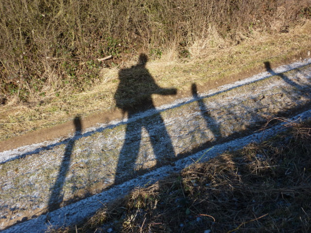 My shadow whilst walking the South Downs Way