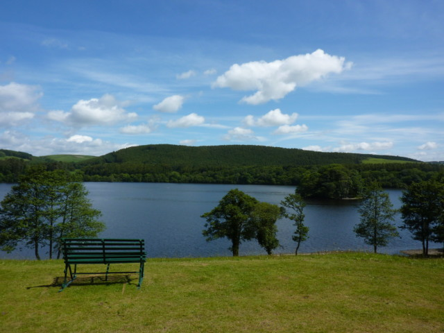 A bench in front of Black Loch