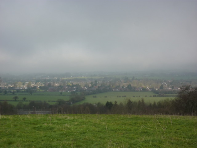 A view of Tring in the far distance