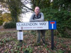 Street sign saying 'Clarendon Way'
