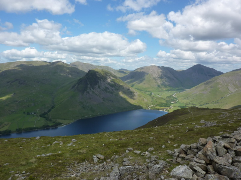 Wast Water and Wasdale, seen from Illgill Head