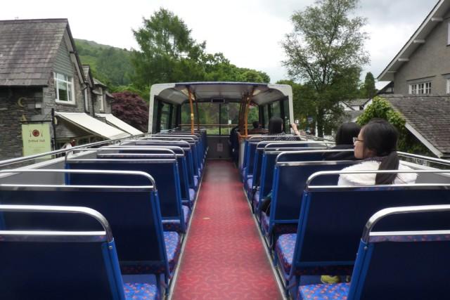 Top deck of an open top bus