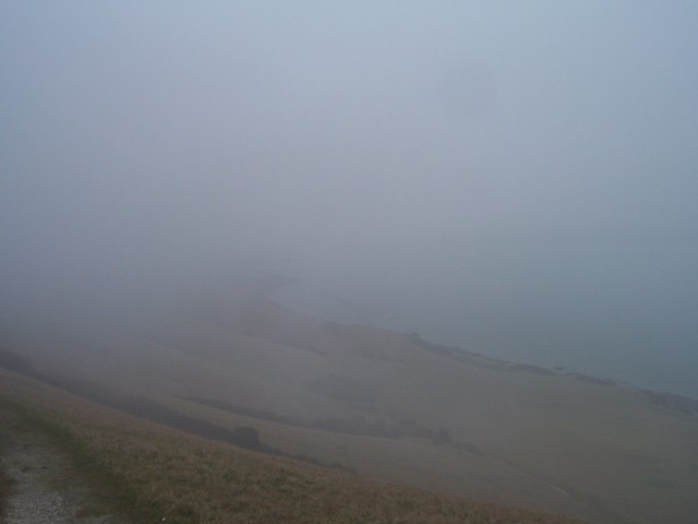 Beachy Head covered by heavy cloud