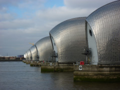 Thames Barrier, at the start of the Thames Path