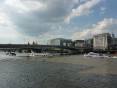 London Bridge, seen from the Thames Path