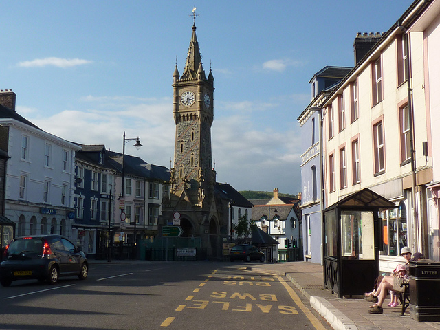 Machynlleth's fine clock tower