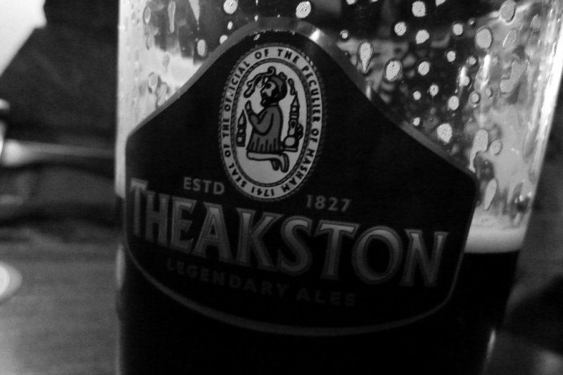 A pint of Theakston Old Perculiar