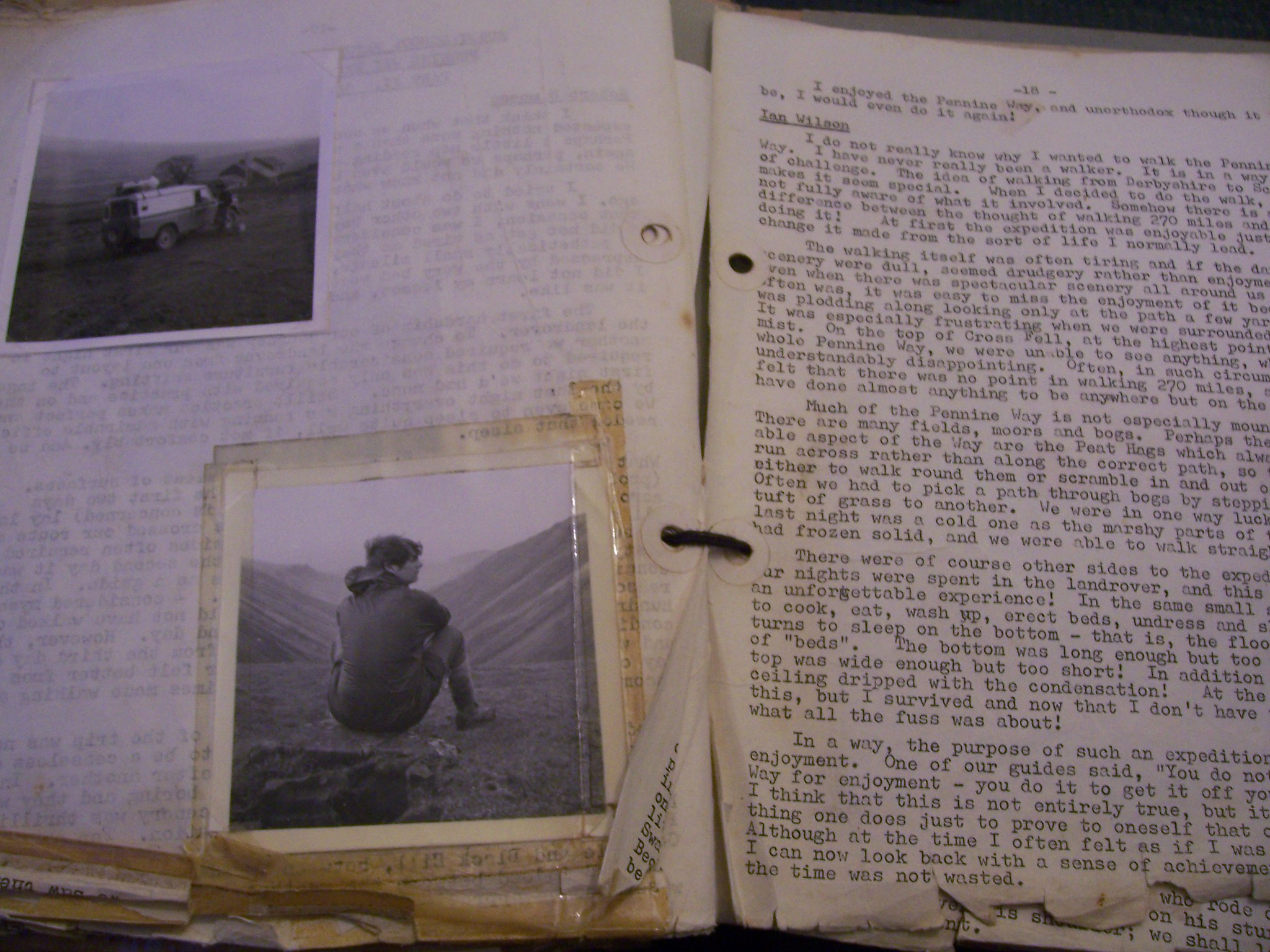 "Photo of a book ""The 1971 Rugby School Natural History Society report on the Pennine Way"""