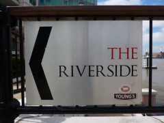 Sign for the Riverside Pub, Vauxhall