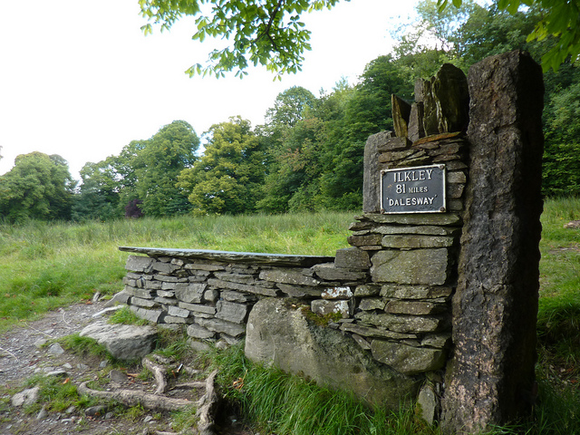 The bench at the end of the Dales Way