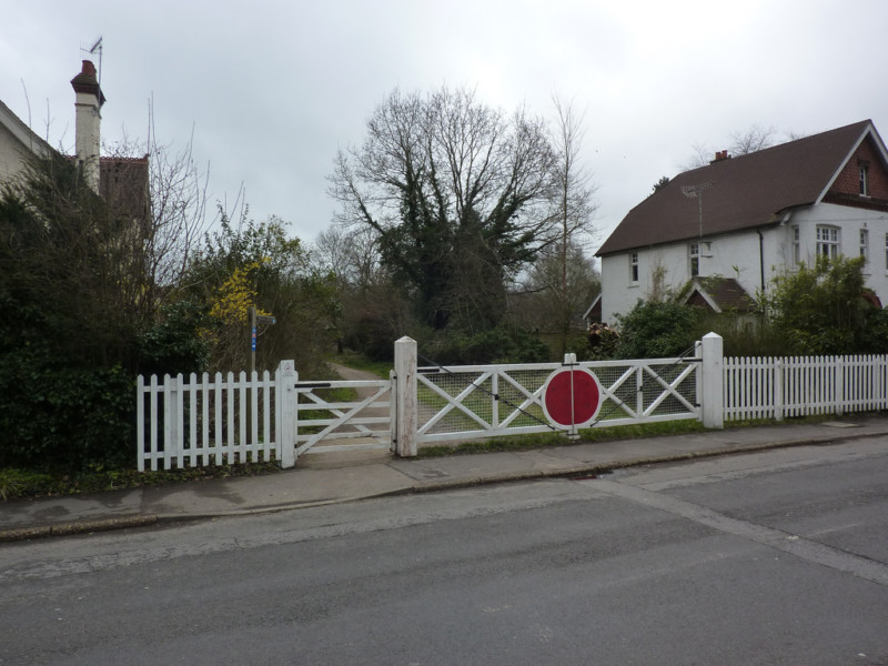 Remnants of a level crossing on Downs Link
