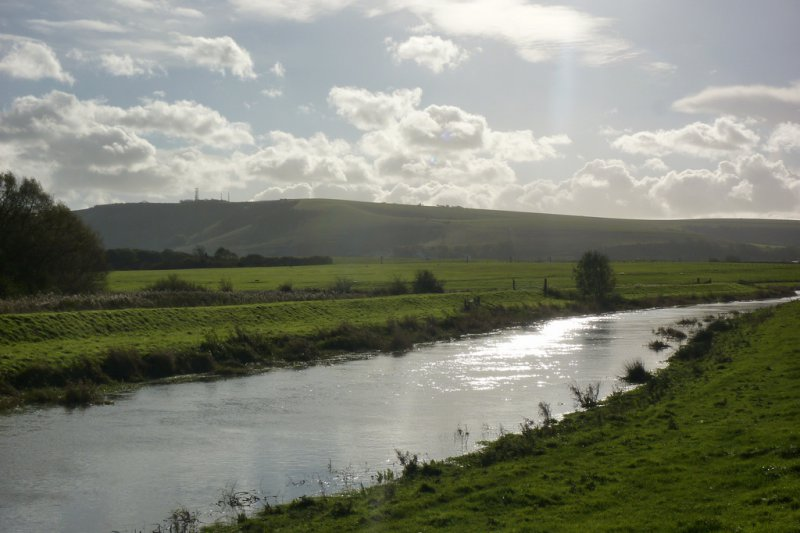 Truleigh Hill and the River Adur
