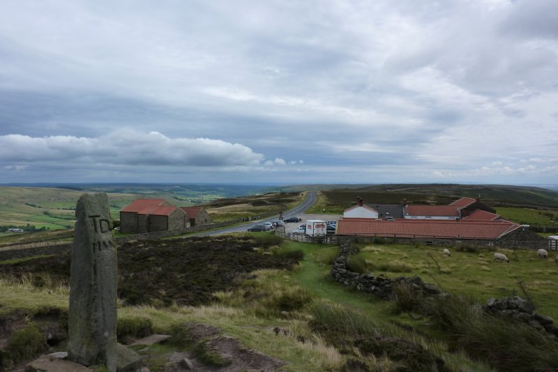 Looking down on the Lion Inn