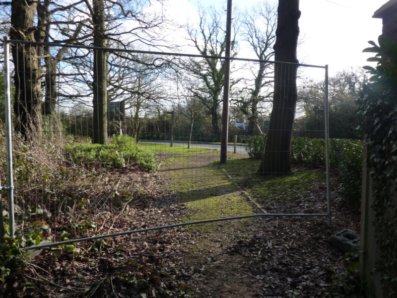 Fence blocking path at edge of Horton Country Park