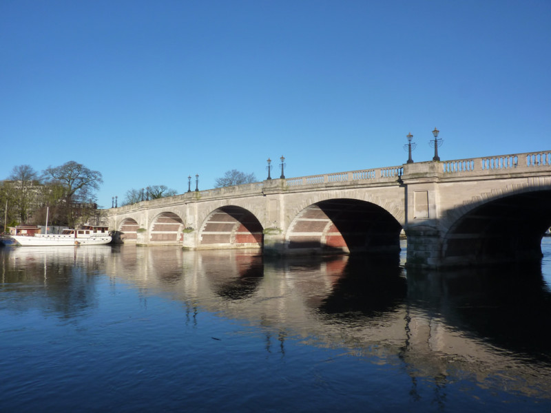 Kingston Bridge, at the start of the Thames Down Link