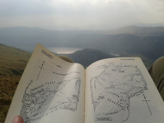 Checking my copy of Wainwright on the side of Great Dodd