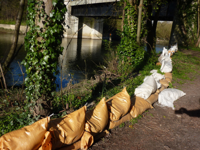 Sandbags at Walton on Thames