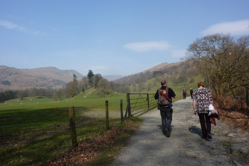 Walking towards Rydal, in the Lake District
